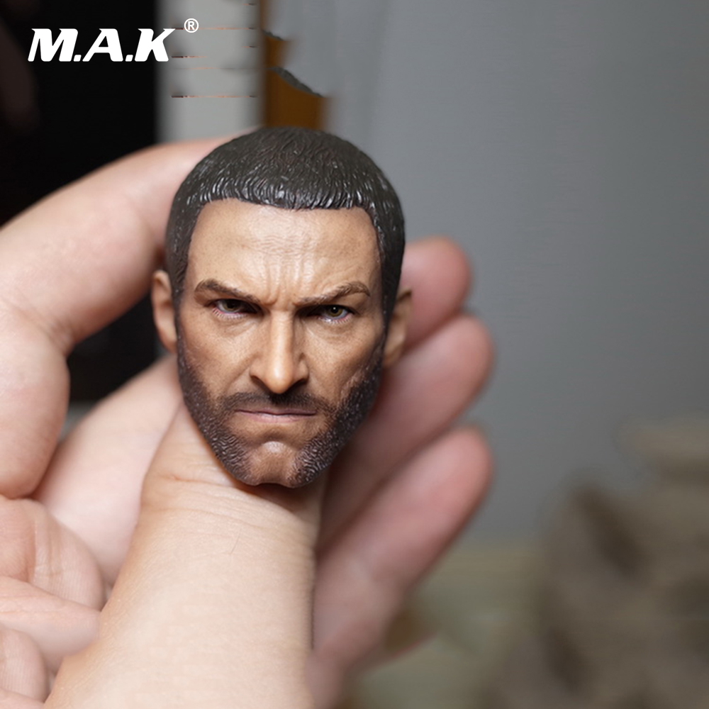 1/6 Scale Wolverine 3 Hugh Logan Head Sculpt Clone   Version with Short Hair for 12 Inches Male Bodies   Dolls Figures Gifts Toy 1 6 scale male head wolverine head sculpt old hugh jackman logan x men for 12 action figure body