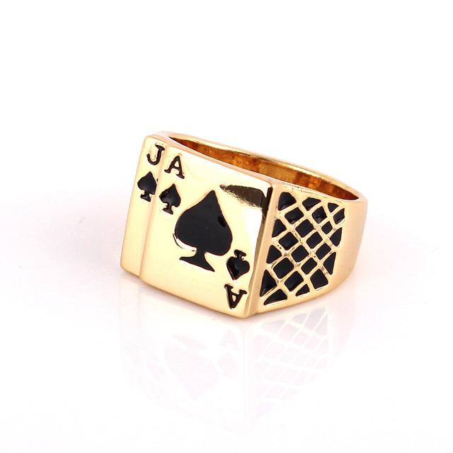 Men's Fashion Poker Patterned Ring