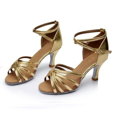 WUUQAO Brand New Women's Dance Shoes Heeled Tango Ballroom Latin Salsa Dancing Shoes For Women Hot Sales 5