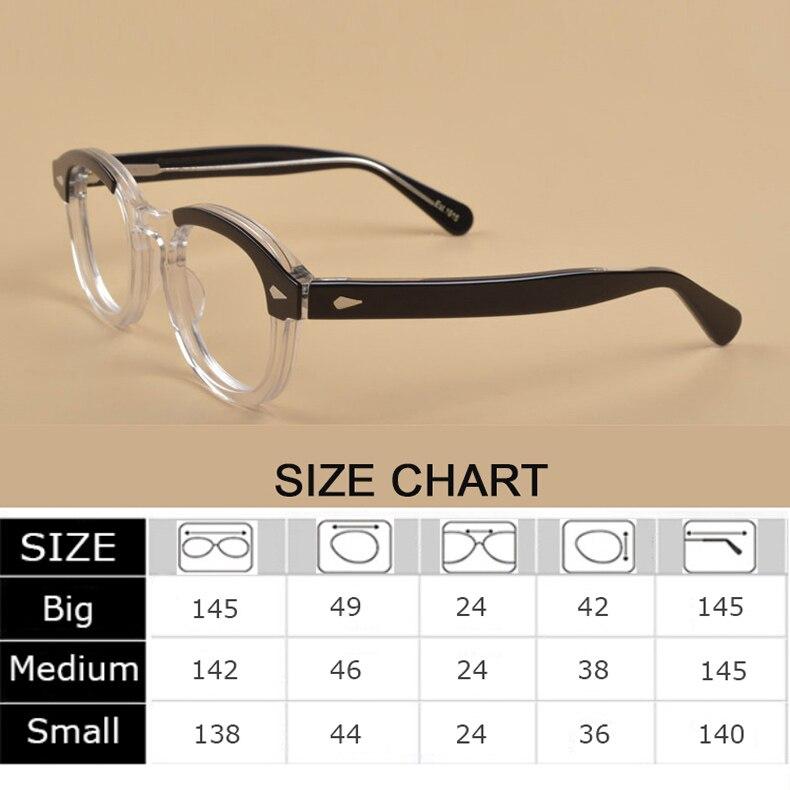 Image 3 - Johnny Depp Glasses Optical Glasses Frame Men Women Computer Transparent Eyeglass Brand design Acetate Vintage Fashion Q313 2Mens Eyewear Frames   -
