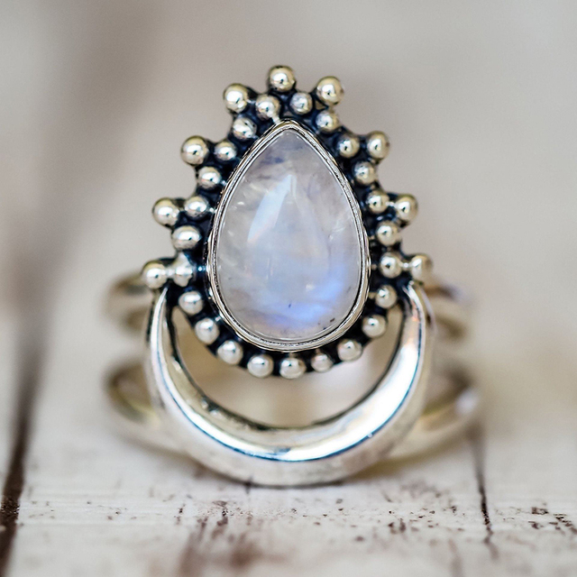 925 Silver Women's Vintage Punk Jewellery Ring 5