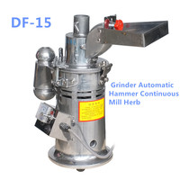 DF 15 Automatic Table Type Continuous Hammer Mill Herb Grinder 20000rpm/min 220V 110v Electrical Flour Mill Ultrafine Grinding