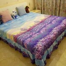 Новая двойная кровать крышка для кровати; постельное покрывало батут голова крышка утолщение шлифовка длинный штапель хлопок активная печать и окрашивание