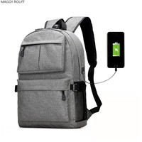 New Multifunction USB Charging Men 15 Inch Laptop Backpacks Large Capacity Splash Proof Backpack
