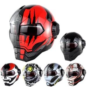 NEUE SM-515 Motorrad Helm Iron Man Helm Motorrad Capacetes Casco Retro Casque Moto Reiten Helm Casque Motocross
