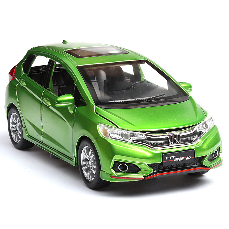 1:32 Alloy Pull Back Car Models,high Simulation Honda Fit,metal Diecasts,pull Back &flashing & Musical,free Shipping