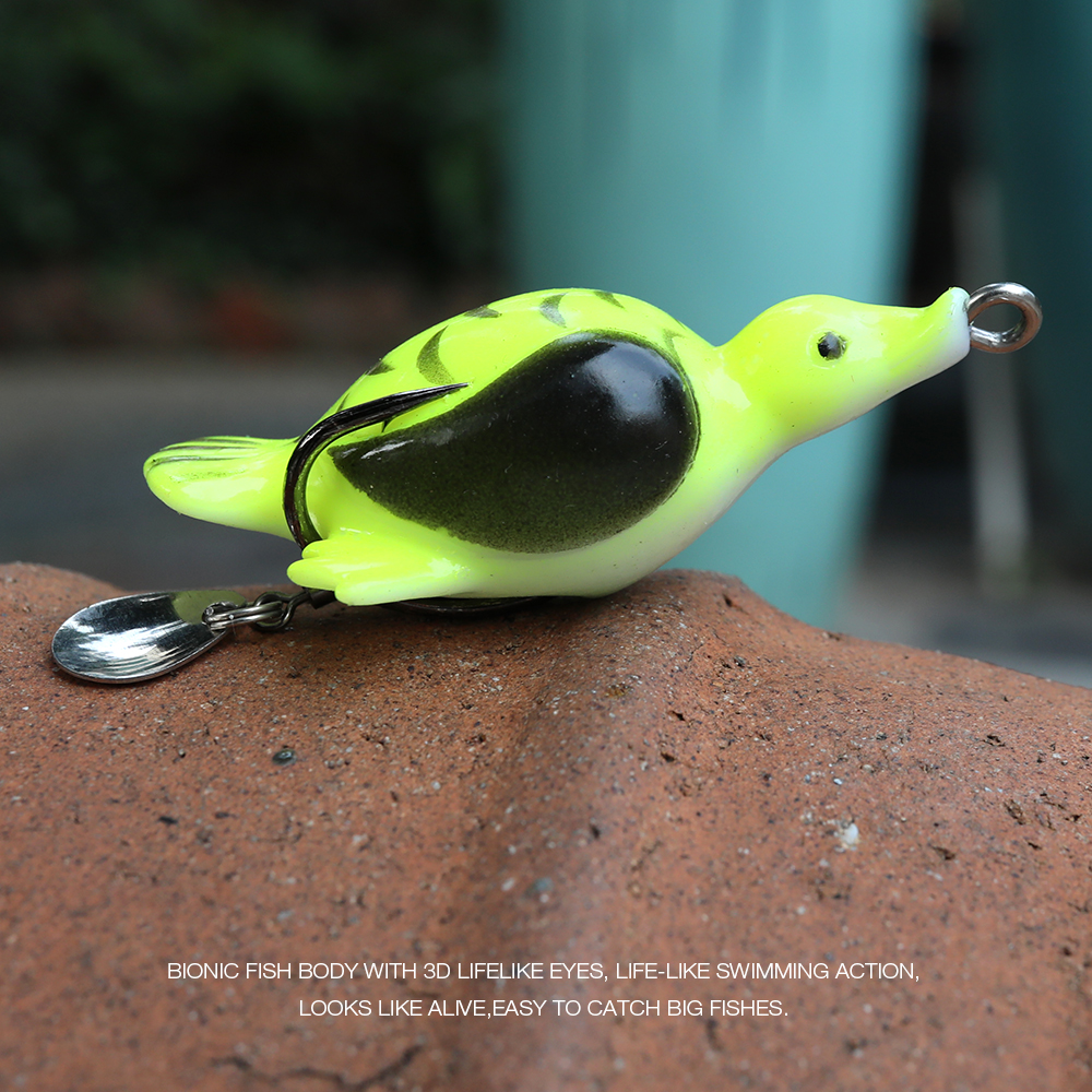 Image 5 - VTAVTA Duck Artificial Silicone Bait 6.5cm 13g Soft Plastic Lures Pike Wobblers for Fish Soft Bait with Spoon Fishing Lure Forg-in Fishing Lures from Sports & Entertainment