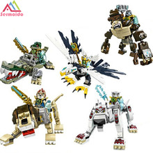 цена на SERMOIDO 5Pcs/Set Chmia Super Hero Building Blocks weapon Qigong Animal Model Bricks Compatible With lepin Toys For Children B72