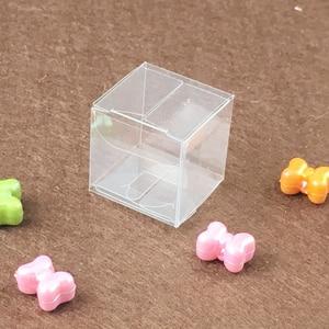 Image 2 - 200ピーススクエアプラスチックボックス収納pvcボックスクリア透明ボックス用ギフトボックスウェディング/ツール/食品/ジュエリー包装ディスプレイdiy