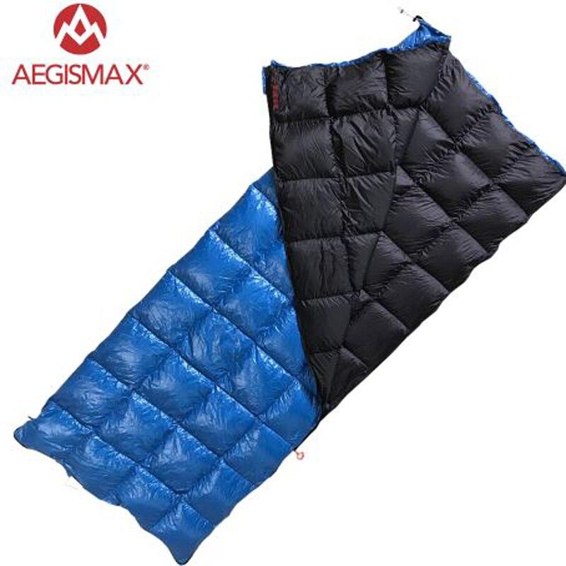 AEGISMAX serie SP Ultra Light 90% pato blanco abajo saco de dormir al aire libre camping mochila tipo sobre tres estaciones