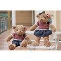 40cm Kawaii Joint Teddy Bears Stuffed Plush Toy Boy And Girl Cute Dress Teddy-Bear Bear Ted Bears Plush Toys Wedding Gifts 016