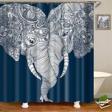 Милый богемный слон занавеска для душа Слон Тематические любовь ванная комната занавес s белый и темно-синий слон занавеска для душа