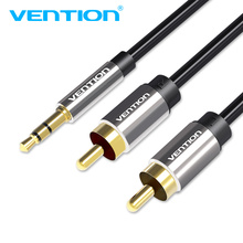Vention RCA Cable Jack 3.5 mm to 2 RCA Audio Cable AUX Splitter 3.5mm Stereo Male to Male 2 RCA Adapter Speaker Cable цена и фото