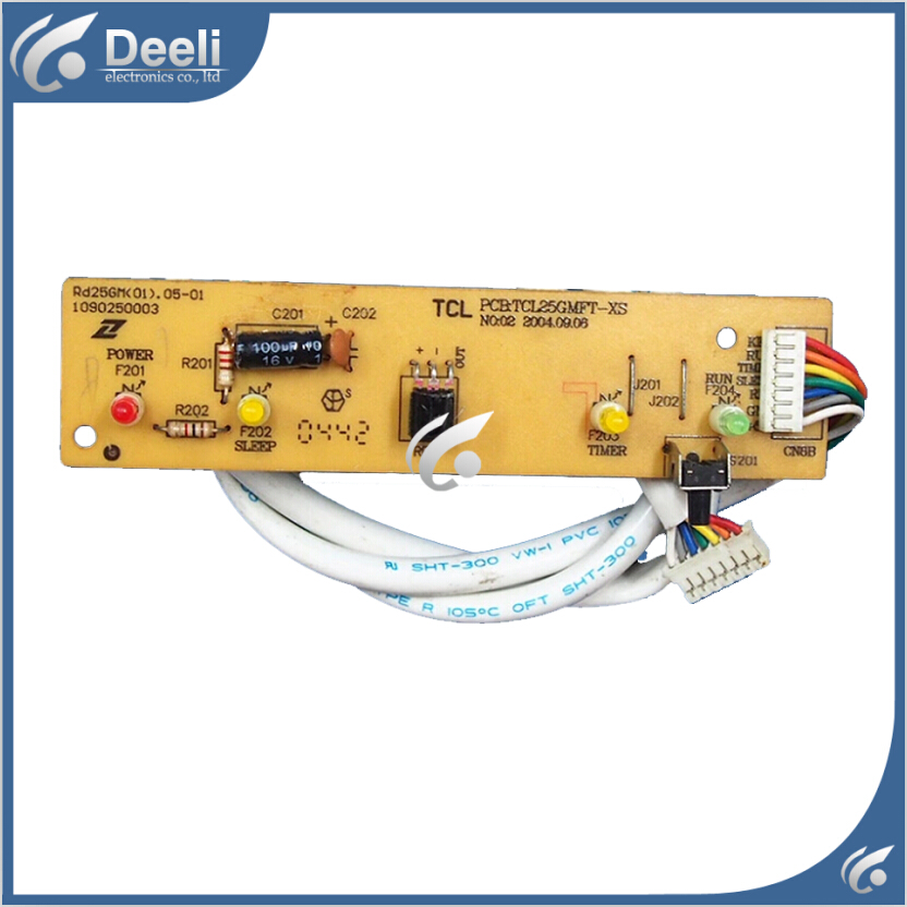 95% new good working for TCL Air conditioning display board remote control receiver board plate PCBTCL25GMFT-XS 95% new for air conditioning display board db93 01352a good working