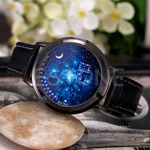 Ladies Watch LED Digital Screen Wrist Touch Watches Starry Star Moon Classic Digital Wristwatch relogio saat