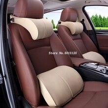 Car Seat Cushion Head Back Neck Rest Pillow Memory Foam Cushions For hyundai i30 creta accent solaris Accessories