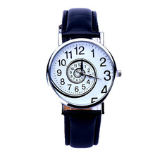 Mulheres da moda relógios Das Mulheres Projetado Redemoinho Padrão PU LEATHER Analógico Quartz Mulheres Relógio de Pulso Relojes de marca Mujer