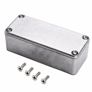 1pc Silver Aluminium Enclosure Case 1590A Mini Electronic Project Box 92x38x31mm(China)