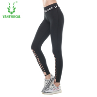 2017 Mesh Sport Leggings Frauen Fitness Gym Yoga Hosen Leggins Sportbekleidung Strappy Jogging Pants Laufhose Sport Kleidung