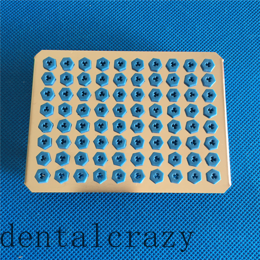 цена на New Dental 80 Holder Tray for Implant Drill Bur Cassette Case Sterilization