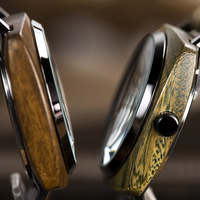 Reloj de madera pulso madera cuarzo para hombre 4