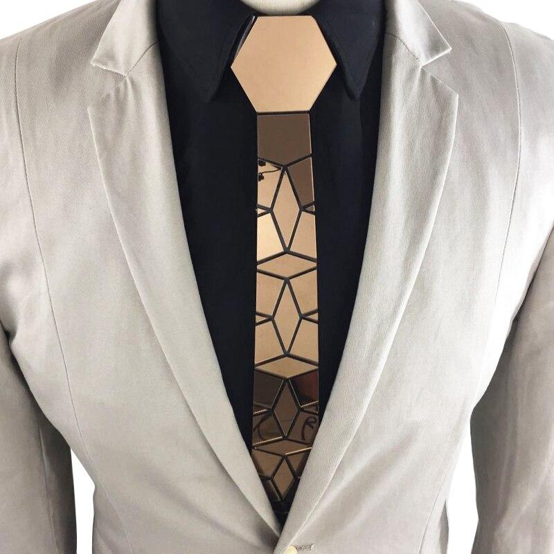 Mode Slim diamant cravate marron foncé miroir mariage fête cravate douce soie sensation plaine Plaid hommes cravate noyer bois Bling accessoire