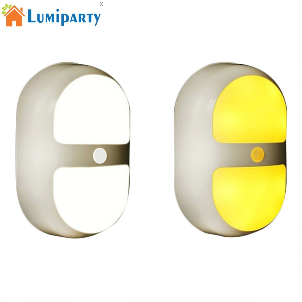 LumiParty LED Night Light Intelligent Human Body and Light Induction Lamp for Corridor Cabinet Bedroom jk30