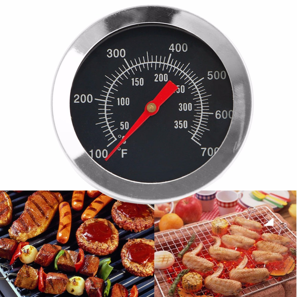 Stainless Steel BBQ Grill Thermometer 50-350 Degree Temp Gauge Outdoor Barbecue Camping Food Cook Tool BBQ Tools & Accessories