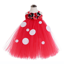 купить Red Tulle Tutu Minnie Mouse Teen Dresses Party Baby Girl First 2 Years Birthday Dress Vestido Minnie Photography Costumes Outfit дешево