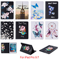 For iPad Pro 9.7 Case Fashion Butterfly Flower Pattern Wallet Flip PU Leather Tablet Back Cover For iPad Pro mini 9.7'' Funda