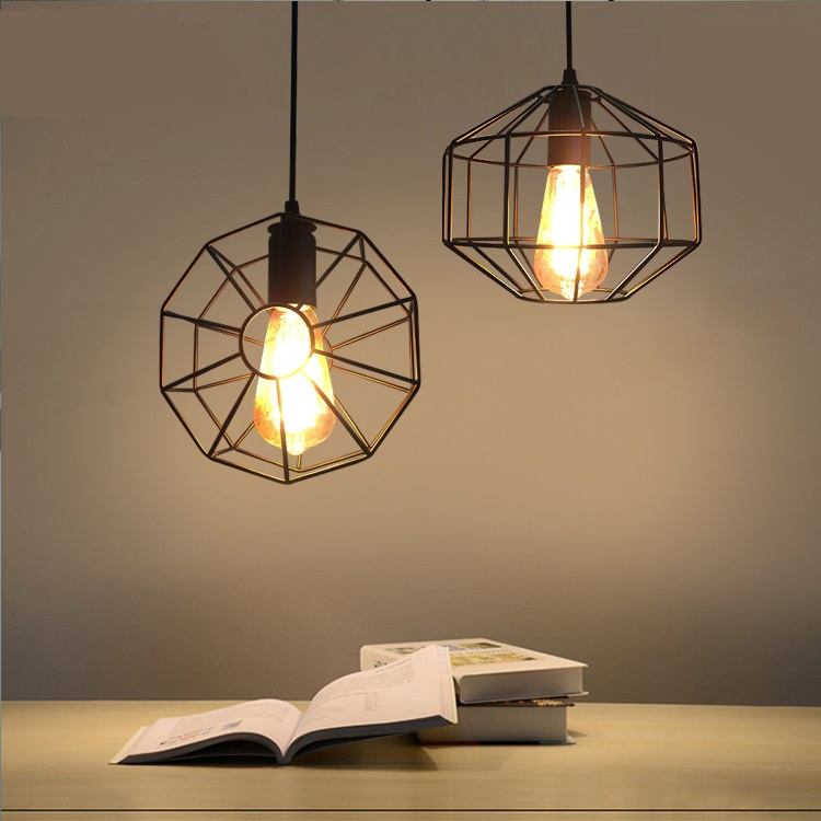 Vintage iron Pendant Lights simple Restaurant Bar Cafe creative study American Pendant Lamps LED  industry clothing modern GY70 cloud pendant lights creative personality modern simple bar restaurant study cafe black white 1 2head pendant lamps za fg817
