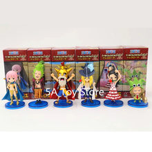 6pcs/set One Piece WCF Luffy Leo Cavendish Bartolomeo Rebecca Violet PVC Action Figure Model Doll Toys Gift(China)