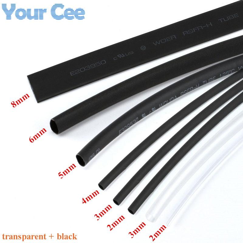2.4mm Diameter x 300 Meter Roll  Heat Shrink Tubing  Heatshrink Tube BLACK