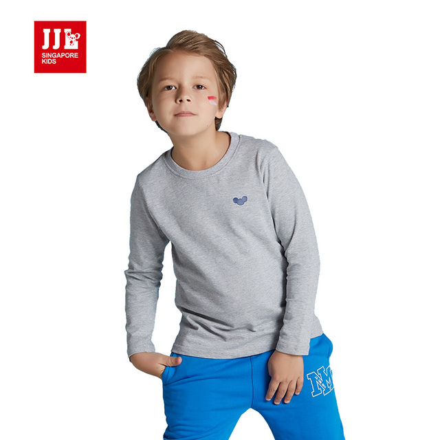 boys long sleeve t shirt kids tshirts children tees 100% cotton winter kids tops brand retail boys clothes size 6-15t pure color