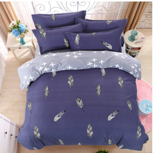 navy leaves bedding sets polyester duvet cover set bed sheet pillowcase twin full queen size king super soft 4pcs 3 pcs