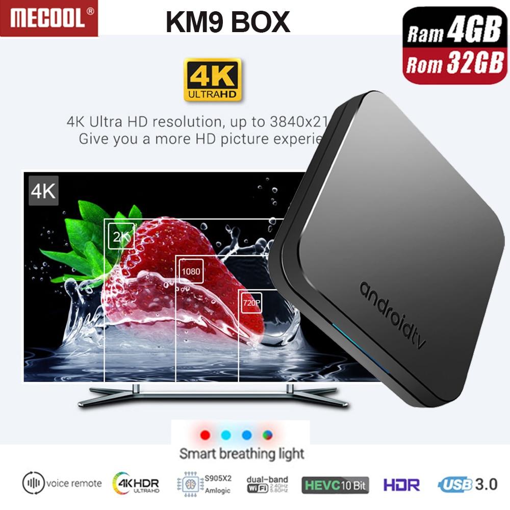 2018 I Più Nuovi KM9 ATV Controllo Vocale intelligente 4g 32g Android 8.1 Amlogic S905X2 scatola di supporto Smart respirazione luce /3D Grafica SCATOLA