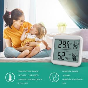 Image 4 - ORIA Mini Digital Hygrometer Thermometer Thermometer Temperature Humidity Monitor Gauge Meter Home Office Bedroom Kitchen