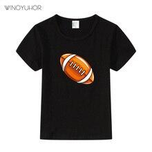 Boys T-Shirts Cute Fun Rugby Girls Tops Summer Kids Clothes Children Short Sleeve Tshirts Toddler Cotton T Shirts