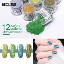 ROSALIND 10g Nail Glitter Dipping Powder Manicure Decoration Chrome Powder Nail Art Glitter 12 colors Glitter Sequins NSA цены
