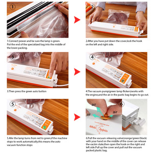 Image 5 - Household Food Vacuum Sealer Packaging Machine Sealing Storage Bags Film Sealer Vacuum Packer Including 15Pcs Vacuum Food Sealer