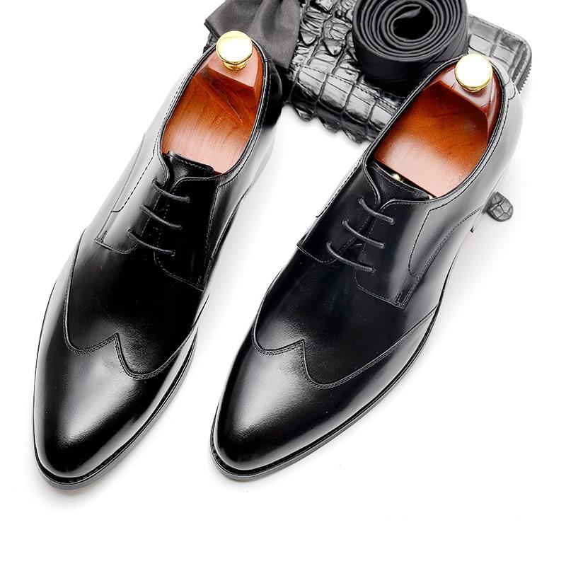 Apontou Cavalheiro Plana Genuíno Pjcmg Novo red Casamento Lace Vestido Casual up Clássico E Couro Sapatos Black Toe Preto vermelho Confortável Homem fPzqw