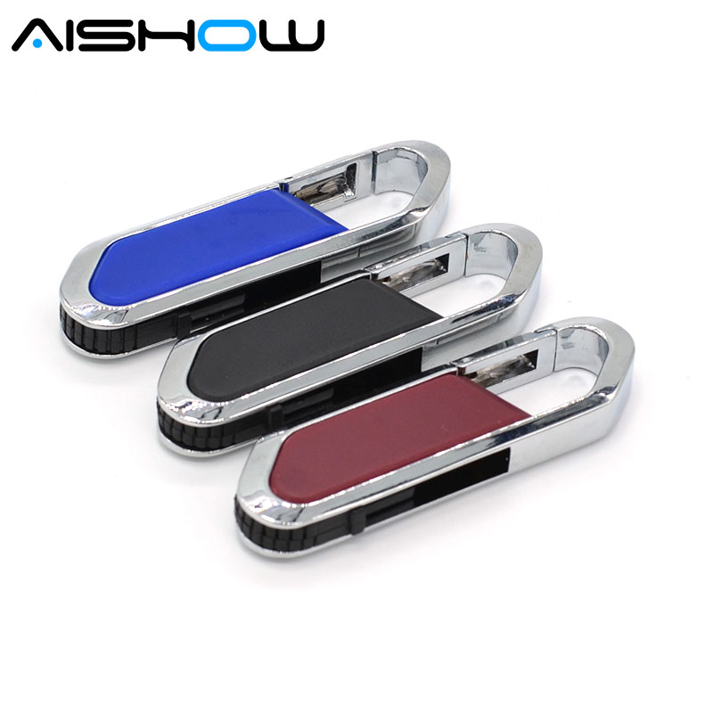 2017 hot sale metal 8GB 16GB 32GB U Disk pendrive 64GB rotation USB 2.0 usb Flash Drive memory stick Free shipping