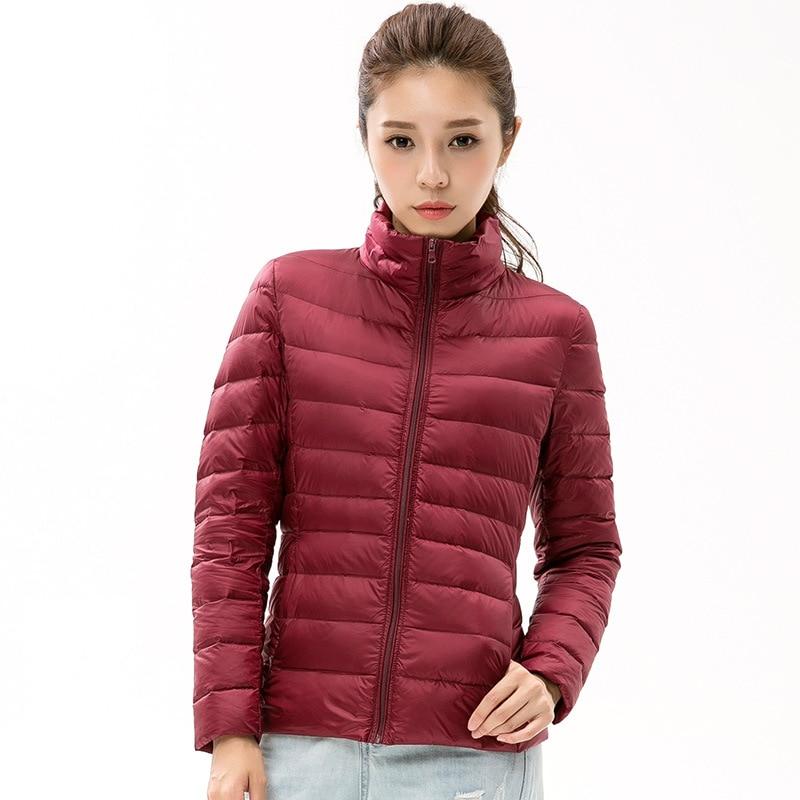 36d85f8fbb09e OMLESA Ultra Light Duck Down Jacket Women 2017 Autumn Winter Short Hooded Plus  Size Thin 90% Down Coat Women Parks Outwear YR406-in Down Coats from  Women s ...