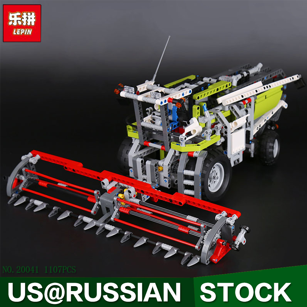 Lepin 20041 1107Pcs Genuine Technic Series The Combine Harvester Set Educational Building Blocks Bricks Toys Model Gift 8274 lepin 02020 965pcs city series the new police station set children educational building blocks bricks toys model for gift 60141