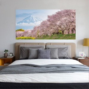 Image 5 - Japan Mountain Cherry Bossoms Tree Floral Scenery Wall Sticker Bedroom Decal Art Decor Self Adhesive Waterproof Home Mural Decor