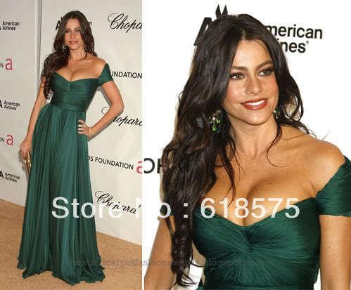 Vestido verde sofia vergara