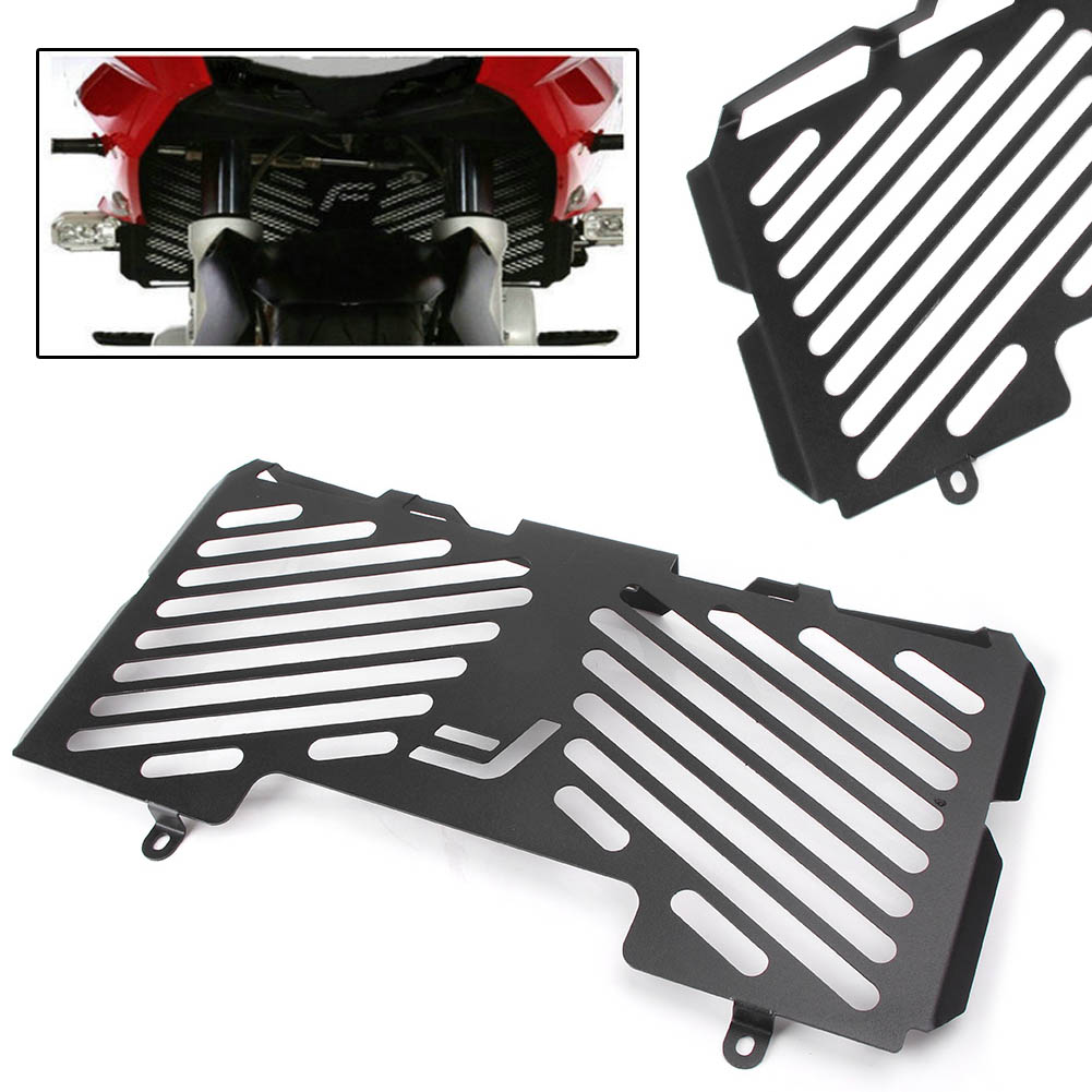 все цены на Front Radiator Grille Guard Cover Grill Protector For BMW F650GS F700GS F800R F800S 1PC Black Motorcycle Accessory Part онлайн