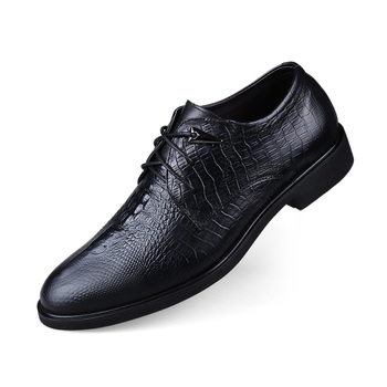 Nice New Top Quality Crocodile Grain Men Dress Leather Shoes Fashion Comfortable  Lace Up Male Business Oxfords Shoes
