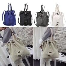 Canvas Handbag Shoulder Messenger Bag New Women's Girls Durable Tote Purse Bags Casual Canvas New Solid 2018 THINKTHENDO