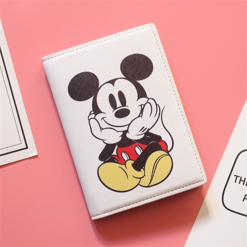 Cute Mouse Travel Passport Cover Card Case Girls Travel Credit Card Holder Boys Travel ID Document Cartoon Passport Holder Bag